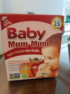 Baby mum mum Rice Rusks Teething snacks