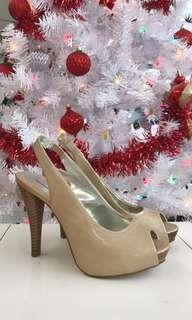 STYLE&CO nude slingback heels