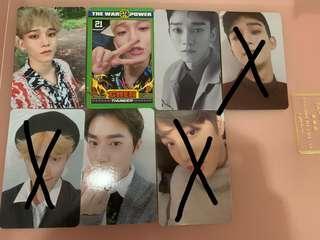 EXO Chen Kai Suho photocard
