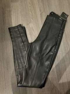 BNWT Zara high waist leather pants