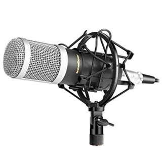 🚚 InnoGear MU007 Professional Studio Broadcasting & Recording Microphone Set Cardioid Condenser Mic with Shock Mount Ball-type Anti-wind Foam Cap and XLR Cable