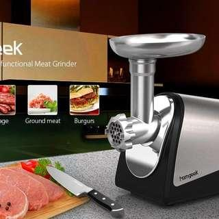 🚚 Homgeek Electric Meat Grinder and Sausage Maker with Kibbe Attachement 1200W Peak Output and 1.608HP Rated Motor