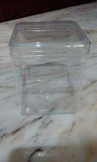 Clear acrylic squarish box container fish tanks for bettas fishes