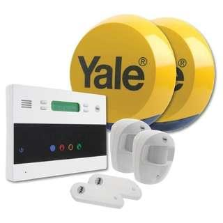 🚚 Yale EF-KIT2 Easy Fit Telecommunication Alarm Kit, White, 25.5 x 26.5 x 26.5 cm