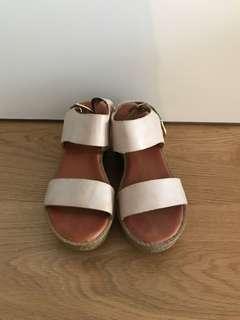 Dirty Pink Platform Shoes