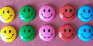 Brand New Smiley Magnets (Set of 10 Pieces)