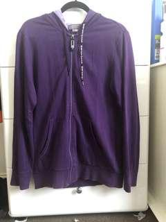 Giordano Slim Fit Purple Hoodie