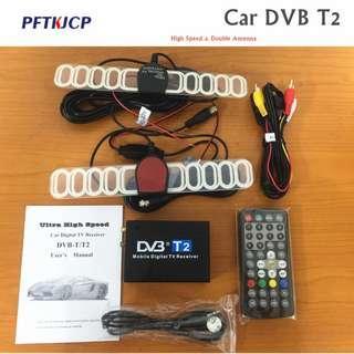 Digital Car TV Tuner DVB-T2 Box 120kmh dvbt2 tuners 2 antenna receiver External USB black digital dvb-t2 car dvd for DVB-T2
