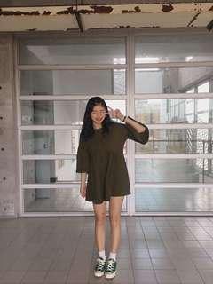 🚚 可愛墨綠色小洋裝