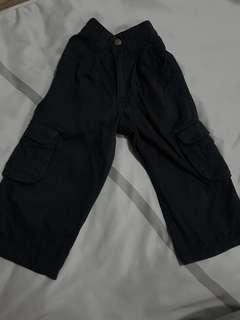 Black pockets cargo pants