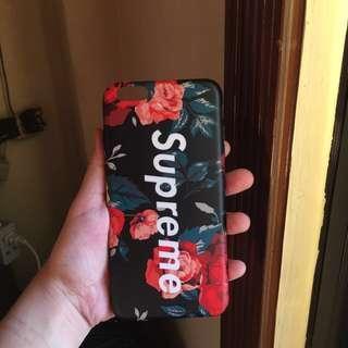 iPhone 6/6s Plus Black Floral Supreme Case