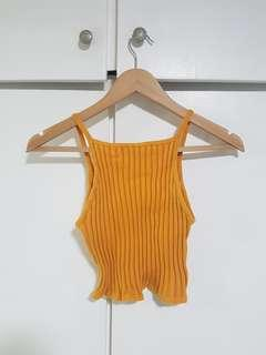 Forever 21 Orange Crop Top