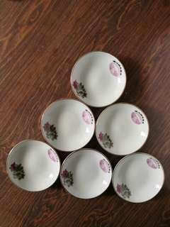 瓷製醬油碟----中國醴陵70年代製造