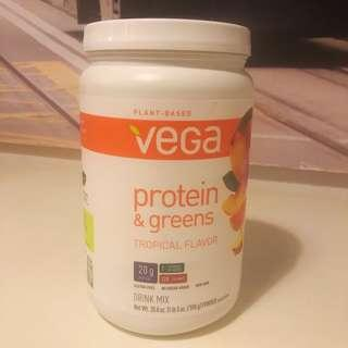 Vega- protein and greens tropical flavour