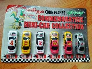 Kellogg's commemorative mini car collections nascar
