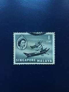 SGSTM. Stamp Of Singapore. 1955-09-04. -Queen Elizabeth II Series Definitives. 1 Cent, Chinese Sampans.