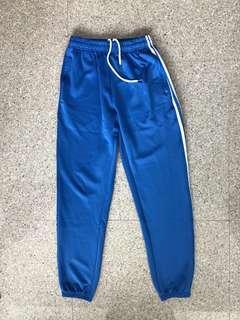 Royal blue 3 striped sweatpants