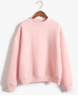 simple pink pullover