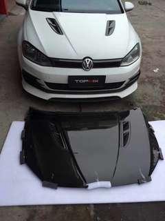 Ready stock! New arrival topmix aka seibon Carbon bonnet for Golf Mk7 1 pc ready stock only