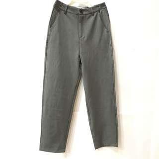 🚚 灰色基本款九分西褲 S號 (僅限7-11超取付款)