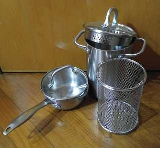 Chef Style stainless steel cooking set
