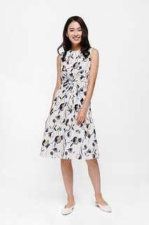 LB Mariposa Knot Front Floral Dress