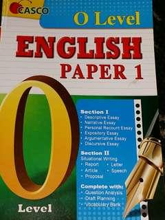 O Level English Writing Paper 1 Study Guide by Casco
