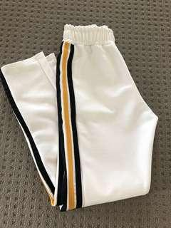 Yellow & Black Side Stripe Pants