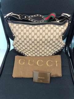 Gucci Pelham Web Hobo Sling Bag