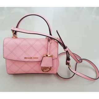 MK Michael Kors Small Leather Crossbody Sling Bag