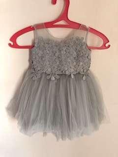 Custom made grey tutu dress