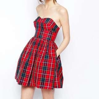 BN Jack Wills Charlton Check Dress