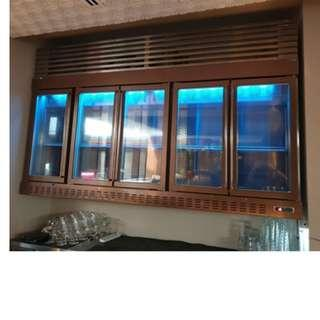 NEOFREEZE custom made wall mounted 5 doors champagne chiller