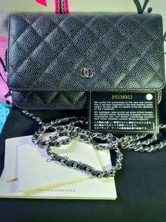 Authentic Chanel WOC caviar in SHW Made in Spain