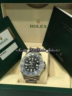 "***SOLD*** BNIB Unworn Local Set ♛ Rolex GMT-Master II 116710BLNR ""Batman"""