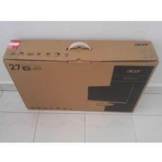 """Acer 27"""" LCD Monitor Empty Box With Styrofoam"""