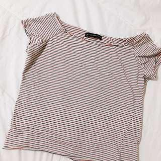 brandy melville nautical stripe rin top