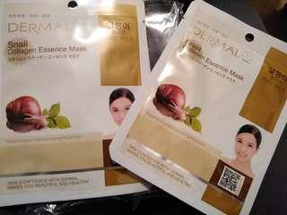 Snail collagen mask x 6 sheets面膜