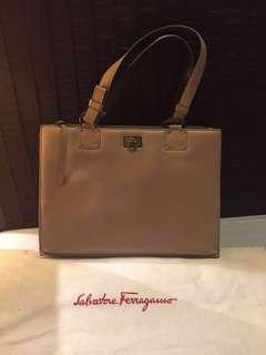 3c91f619ac Salvatore Ferragamo Saffiano Leather Shoulder Bag
