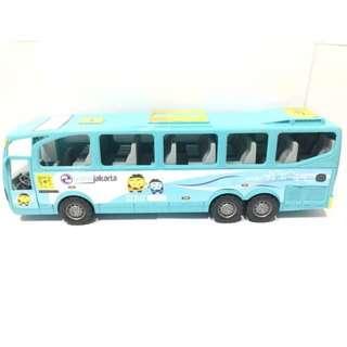 Bus Transjakarta Busway Jumbo Mainan Bis Anak Laki-Laki Biru Muda HA