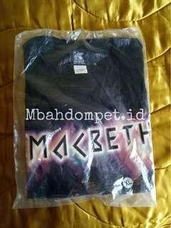 Tees kaos Macbeth rare item 100% original