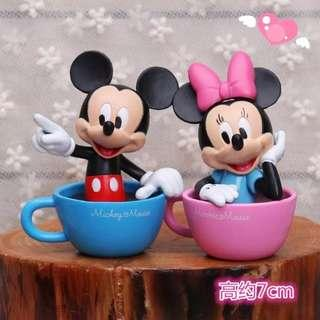 [FREE MAIL!!!] DISNEY MICKEY MINNIE MOUSE Cup Cake Toppers / Figurines / Decoration