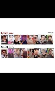 Share EXO love shot photocard set