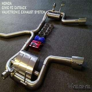 HONDA CIVIC FC CATBACK TURBO EXHAUST