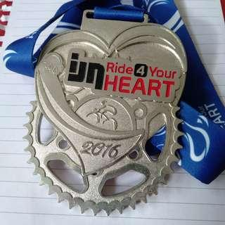 Ride for your heart cycling medal