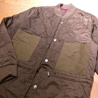 Diesel military olive green liners jacket