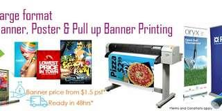 ⭐(Low Cost) PVC Banner, Sticker, SignBoard
