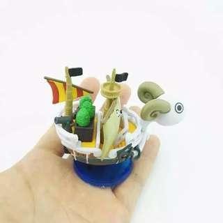 ONE PIECE Cartoon Aquarium Decoration Fish Tank Ship Merry Sunny Marine Ornament