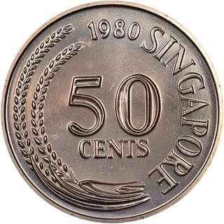 3200 x Singapore 50 Cents Lion Fish Coin