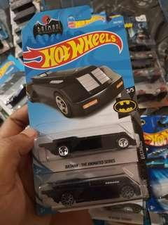 Hot Wheels Batman The Animated Series Batmobile Lot of 2 Variant